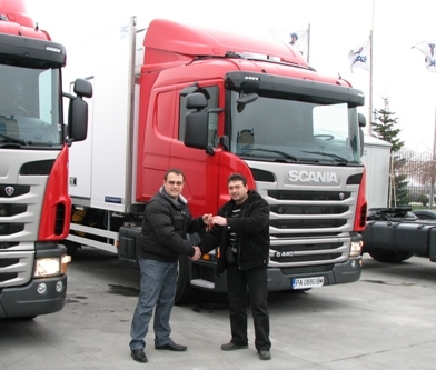 Two new refrigerated SCANIA trucks were delivered to the company Gradus 1 Ltd