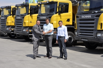 Agri M delivered 10 Scania tippers to the construction company Arnaudov, Plovdiv