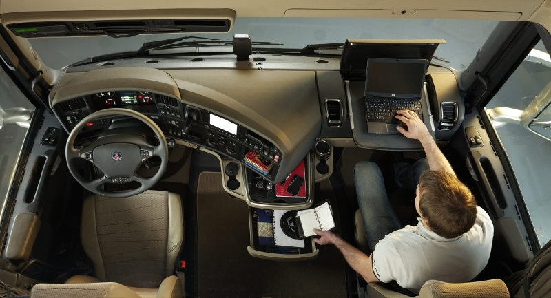 Scania R Series Interior on personal office storage